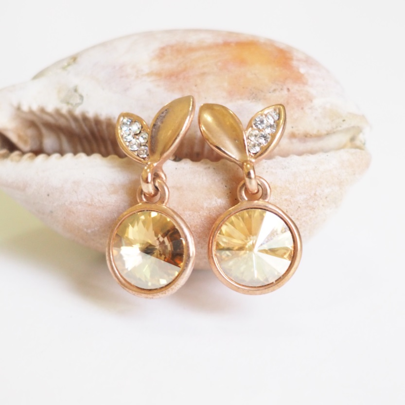 Gold Cherry Earrings, Vintage, Stylish Earrings, Simple Earring ...