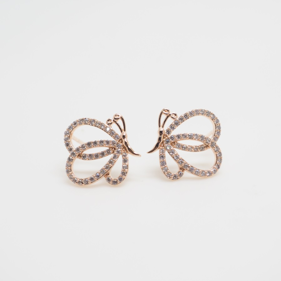 Rose Gold Erfly Earrings Animal Cute Unique Stud Love S Special Gift Sku300596